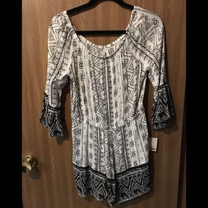 Mudd Romper (Juniors) black-white